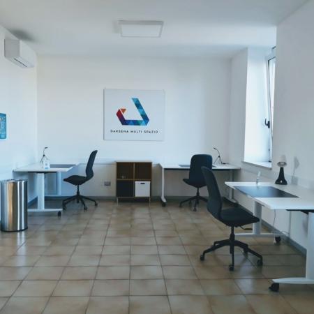 Darsena Multi Spazio a Ravenna - postazioni lavorative distanziate per smart working