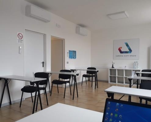 Darsena Multi Spazio - aula formazione con sedute distanziate, sala corsi
